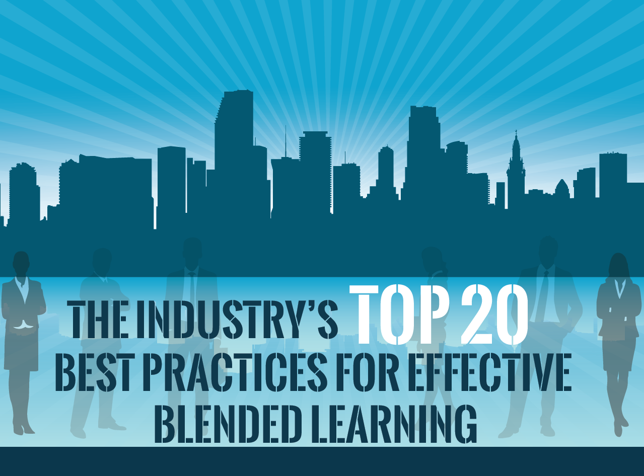 Top 20 best practices for effective blended learning infographic